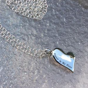 Jewelry - Cremation necklace water proof stainless steel NWT